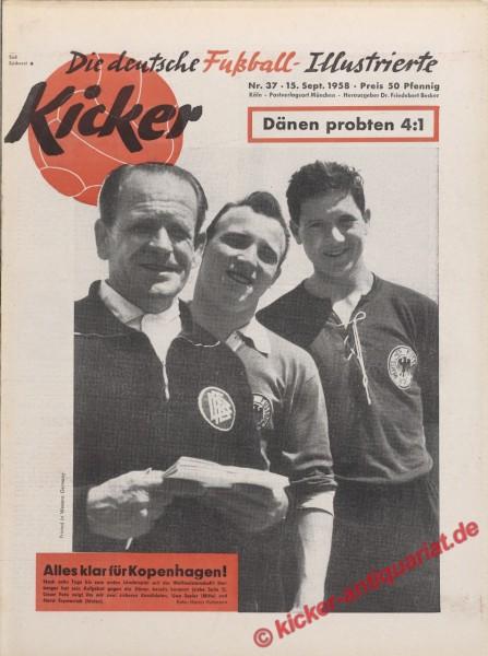 Kicker Nr. 37, 15.9.1958 bis 21.9.1958