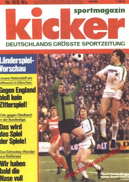 Kicker Sportmagazin Nr. 16, 20.2.1978 bis 26.2.1978