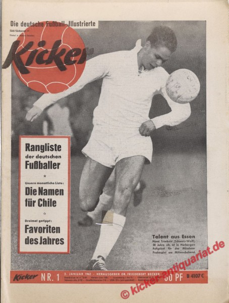 Kicker Nr. 1, 2.1.1962 bis 8.1.1962