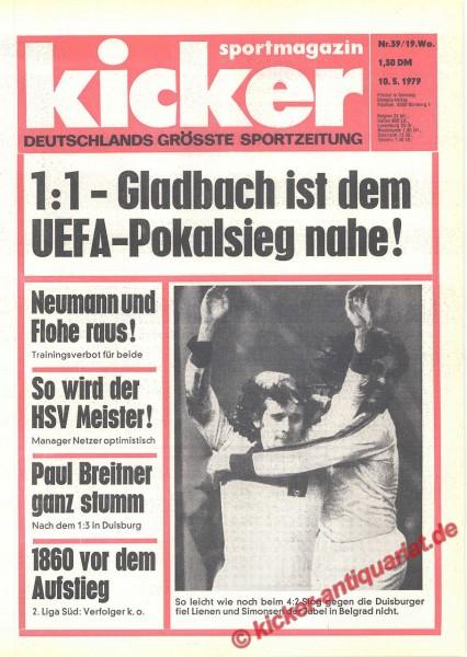 Kicker Sportmagazin Nr. 39, 10.5.1979 bis 16.5.1979