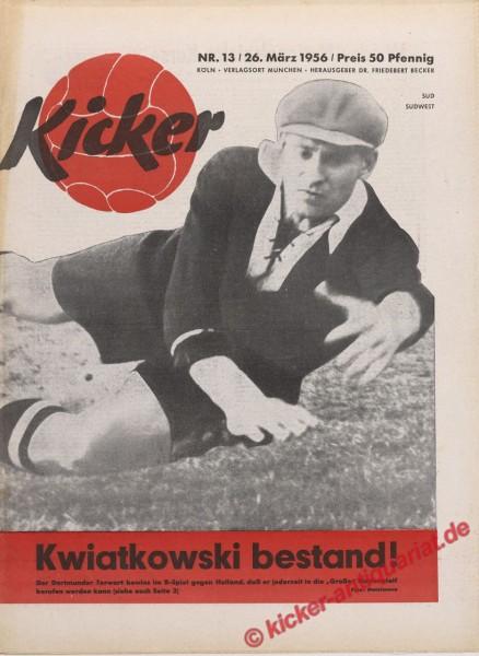 Kicker Nr. 13, 26.3.1956 bis 1.4.1956