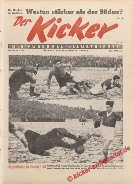 Kicker Nr. 6, 11.2.1952 bis 17.2.1952