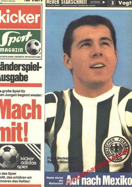 Kicker Sportmagazin Nr. 40, 19.5.1970 bis 25.5.1970