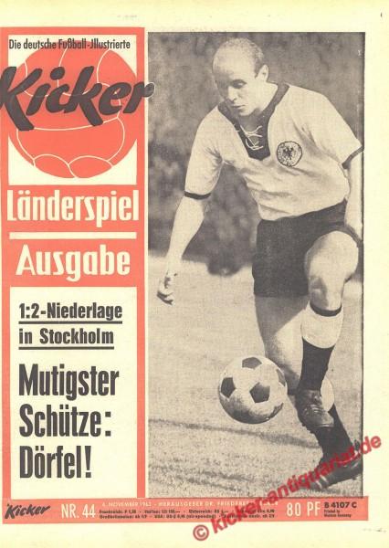 Kicker Nr. 44, 4.11.1963 bis 10.11.1963