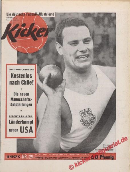Kicker Nr. 29, 17.7.1961 bis 23.7.1961