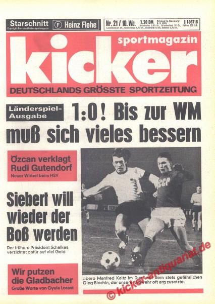 Kicker Sportmagazin Nr. 21, 9.3.1978 bis 15.3.1978