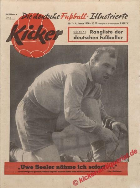Kicker Nr. 1, 4.1.1960 bis 10.1.1960
