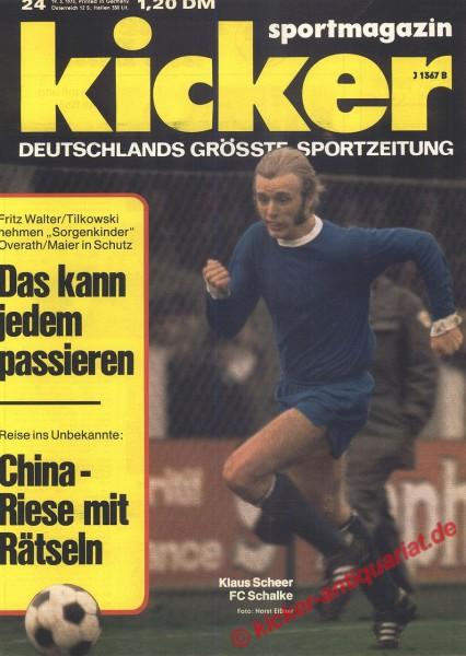 Kicker Sportmagazin Nr. 24, 19.3.1973 bis 25.3.1973