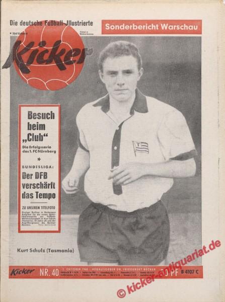 Kicker Nr. 40, 3.10.1960 bis 9.10.1960