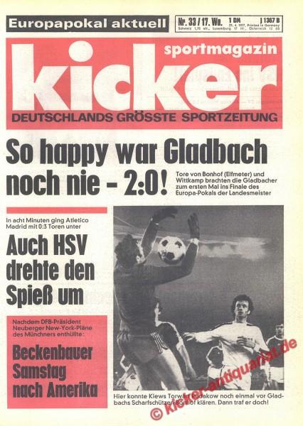 Kicker Sportmagazin Nr. 33, 21.4.1977 bis 27.4.1977