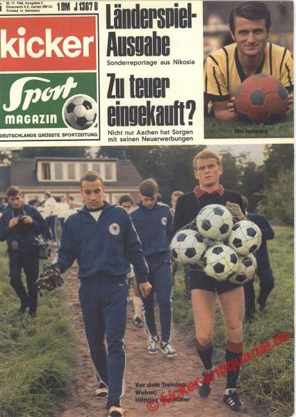 Kicker Sportmagazin Nr. 95, 25.11.1968 bis 1.12.1968