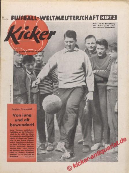 Kicker Nr. 22, 2.6.1958 bis 8.6.1958