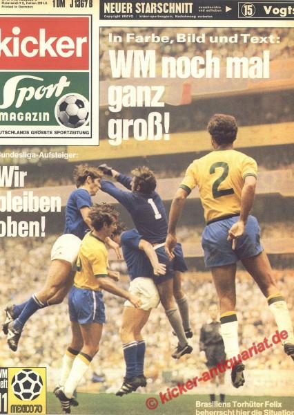 Kicker Sportmagazin Nr. 52, 29.6.1970 bis 5.7.1970