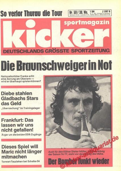 Kicker Sportmagazin Nr. 59, 21.7.1977 bis 27.7.1977