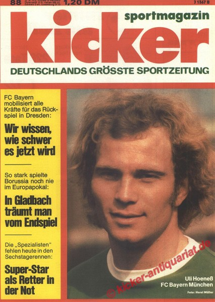 Kicker Sportmagazin Nr. 88, 29.10.1973 bis 4.11.1973