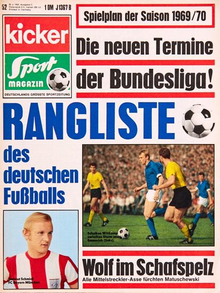 Kicker Sportmagazin Nr. 52, 30.6.1969 bis 6.7.1969