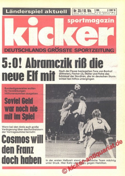 Kicker Sportmagazin Nr. 35, 28.4.1977 bis 4.5.1977