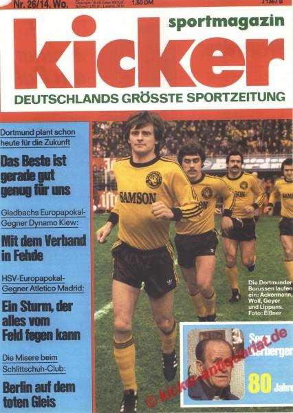 Kicker Sportmagazin Nr. 26, 28.3.1977 bis 3.4.1977