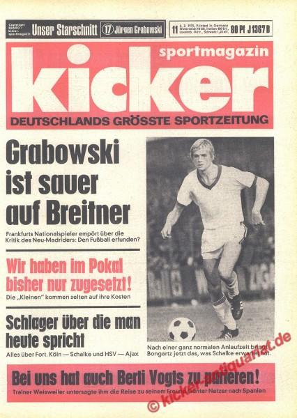 Kicker Sportmagazin Nr. 11, 6.2.1975 bis 12.2.1975