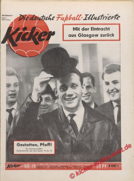 Kicker Nr. 19, 9.5.1960 bis 15.5.1960