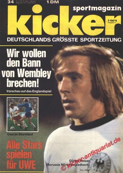 Kicker Sportmagazin Nr. 34, 24.4.1972 bis 30.4.1972
