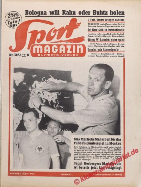 Sportmagazin Nr. 31B, 4.8.1955 bis 10.8.1955