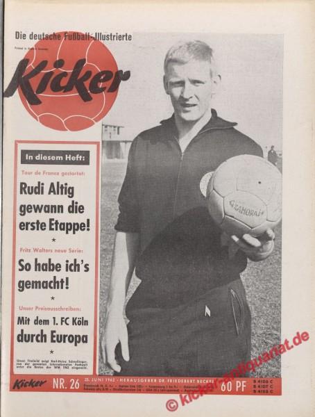 Kicker Nr. 26, 25.6.1962 bis 1.7.1962