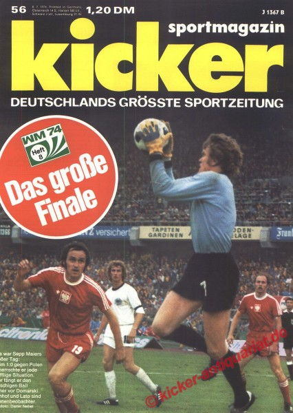 Kicker Sportmagazin Nr. 56, 7.7.1974 bis 13.7.1974