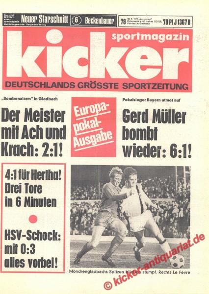 Kicker Sportmagazin Nr. 79, 30.9.1971 bis 6.10.1971