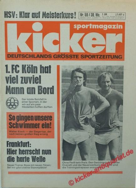 Kicker Sportmagazin Nr. 59, 22.7.1976 bis 28.7.1976