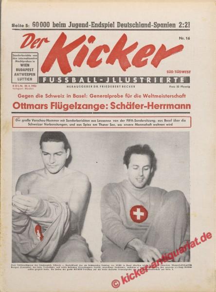 Kicker Nr. 16, 20.4.1954 bis 26.4.1954