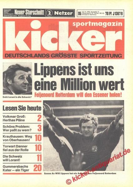 Kicker Sportmagazin Nr. 95, 26.11.1970 bis 2.12.1970