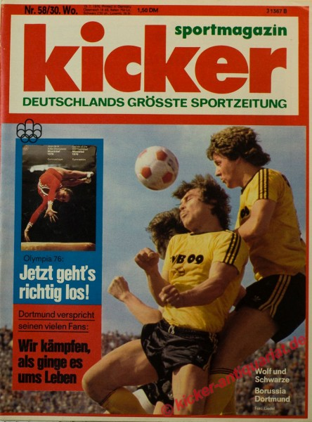 Kicker Sportmagazin Nr. 58, 19.7.1976 bis 25.7.1976