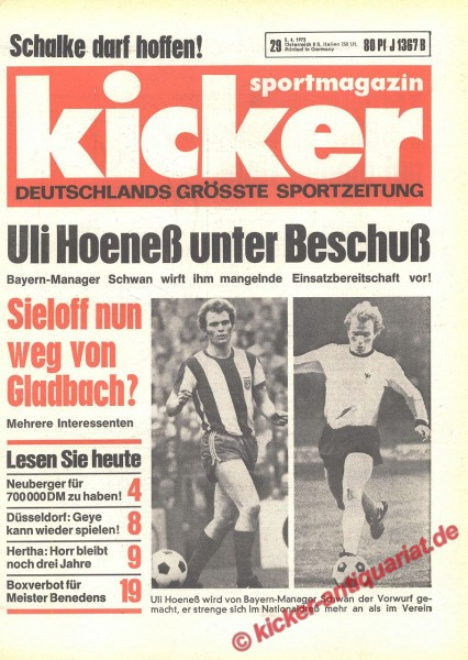 Kicker Sportmagazin Nr. 29, 5.4.1973 bis 11.4.1973