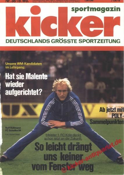 Kicker Sportmagazin Nr. 38, 8.5.1978 bis 14.5.1978