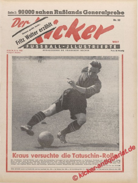 Kicker Nr. 32, 8.8.1955 bis 14.8.1955
