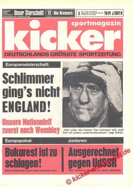 Kicker Sportmagazin Nr. 5, 13.1.1972 bis 19.1.1972