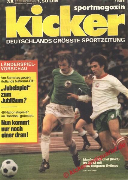 Kicker Sportmagazin Nr. 38, 12.5.1975 bis 18.5.1975