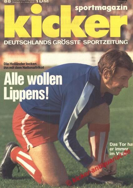 Kicker Sportmagazin Nr. 88, 2.11.1970 bis 8.11.1970