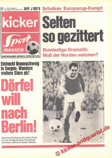 Kicker Sportmagazin Nr. 27, 2.4.1970 bis 8.4.1970