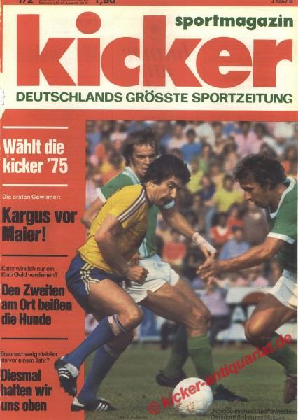 Kicker Sportmagazin Nr. 1, 5.1.1976 bis 11.1.1976