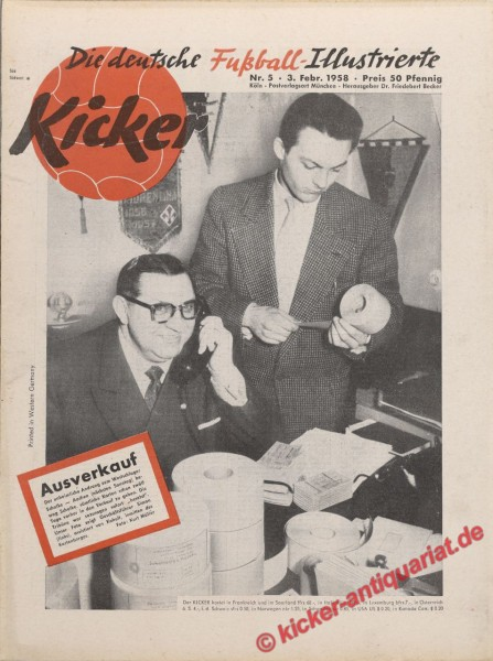 Kicker Nr. 5, 3.2.1958 bis 9.2.1958