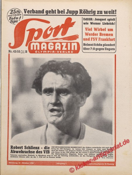 Sportmagazin Nr. 43B, 27.10.1955 bis 2.11.1955