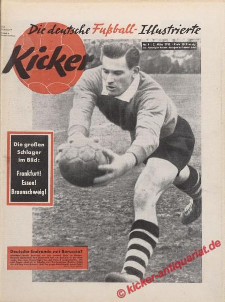 Kicker Nr. 9, 2.3.1959 bis 8.3.1959