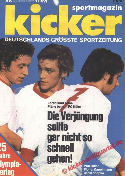 Kicker Sportmagazin Nr. 88, 1.11.1971 bis 7.11.1971