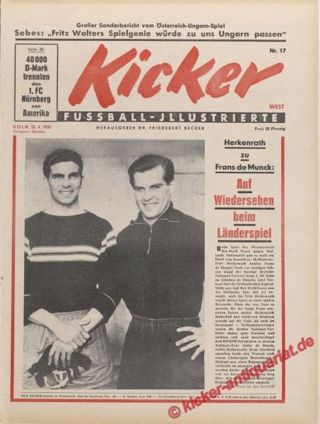 Kicker Nr. 17, 25.4.1955 bis 1.5.1955