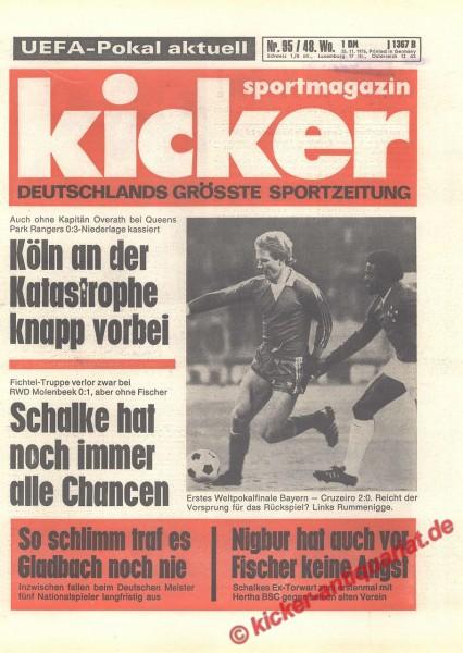 Kicker Sportmagazin Nr. 95, 25.11.1976 bis 1.12.1976