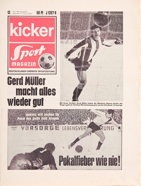 Kicker Sportmagazin Nr. 13, 13.2.1969 bis 19.2.1969