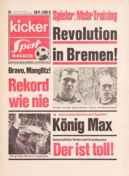Kicker Sportmagazin Nr. 81, 9.10.1969 bis 15.10.1969