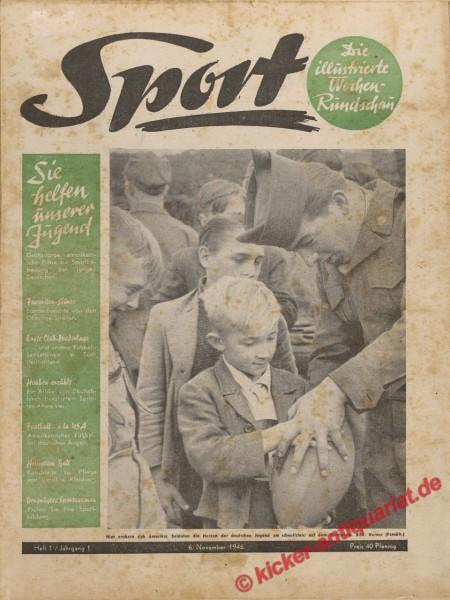 Sportmagazin Nr. 1, 6.11.1946 bis 12.11.1946